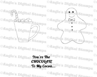 Christmas Cocoa Digital Stamp Set