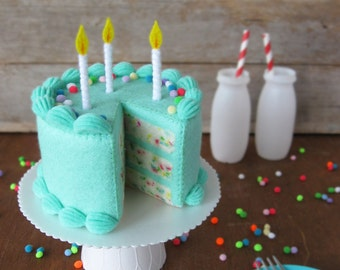 Felt Food Funfetti Birthday Cake