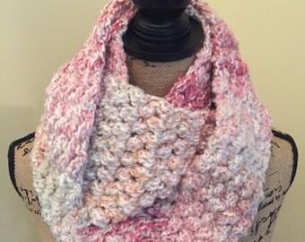 Desert Rose Chunky Crochet Scarf