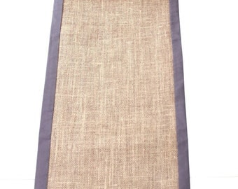 Modern Rustic Table Runner - Reversible - Double Sided Table Runner - Living Beautifully