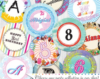 "4"" Custom Party Circles Professionally Printed & Shipped by Cutie Putti Paperie"