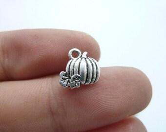 50pcs 10x11mm  Antique Sivler Pumpkin, Pumpkin Pendant, Pumpkin Charms, Antique Silver, Halloween Pumpkin Charm C8104