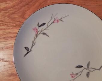 Vintage Cherry Blossom Fine China Salad Plate