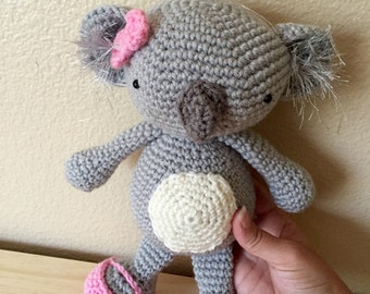 Koala Bear Plush Toy/ Photography Prop/ Stuffed Toy / Soft Toy/Amigurumi Toy-  MADE TO ORDER