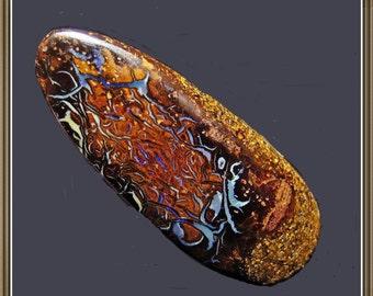 Boulder Opal  Koroit Yowah cabochon, teardrop, two sided, 30x12x6 mm, 22.08 cts.