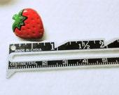 Novelty Buttons, Strawberry Buttons, Craft Buttons