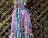 "20%OFF bohemian lagenlook gypsy boho rock chic slip dress..smaller to 38"" bust"