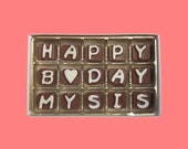 Birthday Gift  Sister Woman Girl Gift Her Sister In Law Long Distance Happy B Day My Sis Cubic Chocolate Letters Delicious Cute Message Fun