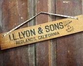 Vintage Fruit Box Panel Repurposed Sign