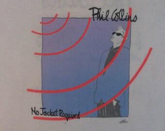 PHIL COLLINS 1986 tour T SHIRT