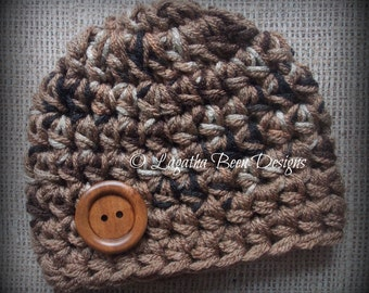 Chunky baby hat - chocolates ombre hat - brown ombre baby hat - photography prop - photo prop - baby shower gift - made to order