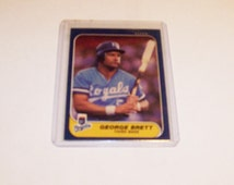 Vintage 1986 Fleer George Brett Card