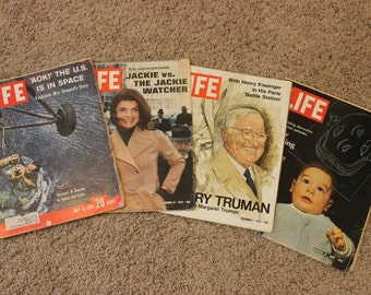 Time Magazine Lot of 4 / Jackie O / Space / Truman / Civil Rights / 60s and 70s