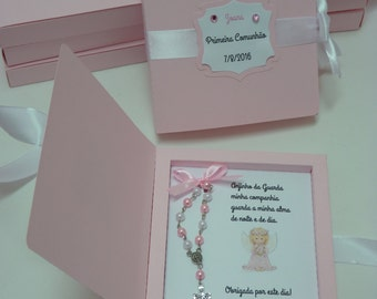 Frame box with rosary - set of 10