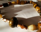 TRENDING for THE HOLIDAYS - A Beautiful Semiprecious Necklace in Earthy Colors