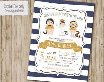 wild things are baby shower invitation wild things baby shower wild
