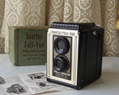 Vintage Spartus Camera Original Box Full-Vue Reflex Camera Bakelite 1948-1960 Black and White Photographs 620 Film