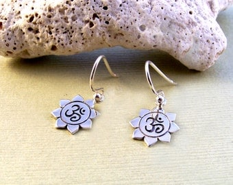 Sterling Silver 'Sun Salutation' Earrings
