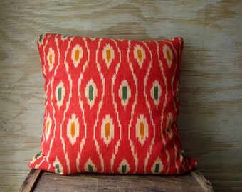 Vintage Ikat Woven Pillow Cover BOHO Throw Pillow