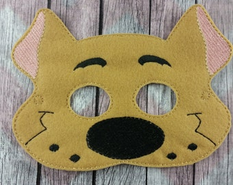 Detective Dog Felt Children's mask, Scooby inspired, Mystery Inc Dog