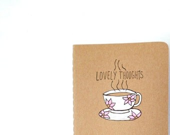 Thoughtful gifts for writers, Gratitude Journal, Moleskine Notebook, Writing Journal, Blank Notebook, Unique Gifts, meaningful gifts tea cup