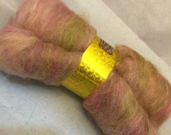 ANTIQUE ROSE Spinning Fiber Art Batt
