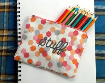 Embroidered Zippered Pouch for your Stuff