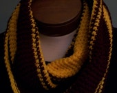 Cleveland Cavaliers Scarf Infinity Crocheted Wine and Gold