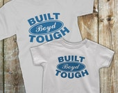 Father son matching shirts, Ford Built Tough matching Dad and son, Father son matching outfit, Custom design your last name