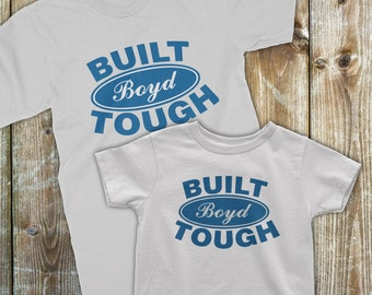 Father Son Matching, Custom matching shirts, Dad Baby Matching, Father Son Shirts, Built Ford Tough, Daddy and me outfits, Dad and Son Shirt