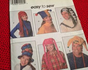 Simplicity Pattern 7880, fleece hat pattern, hat pattern, fleece pattern