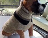 "Dog Sweater Hand Knit Butch 22"" inches long X Large"