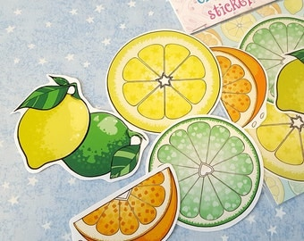 Citrus Fruit Stickers Set