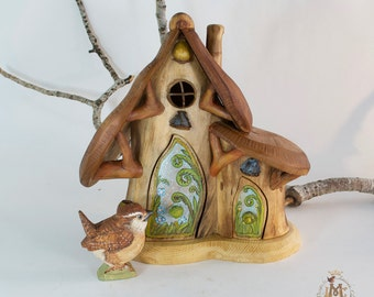 Willodel Fern & Forget-Me-Not  Fairy Cottage with Furnishings