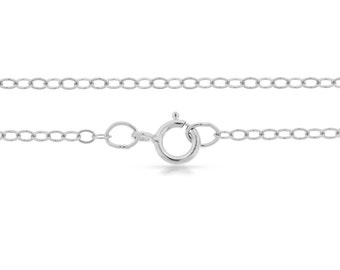 Sterling Silver 2.2x1.6mm 20 Inch Flat  Cable Chain - 1pc (2732)/1