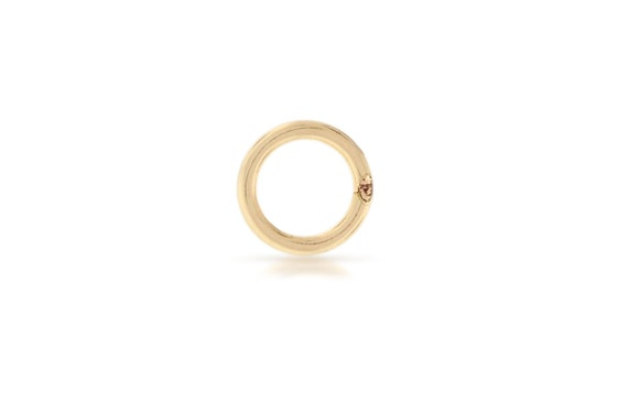 Gold Jump rings 14kt Gold Filled 22gauge 5mm Solder Closed Jump Rings - 100pcs (2767) - 20% OFF DISCOUNTED PRICE