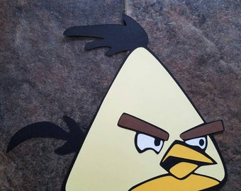 Angry Birds yellow bird large wall decorations diecut cardstock 11""