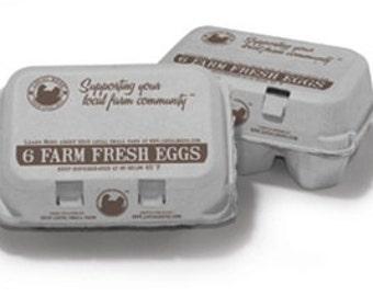 Farm Fresh Egg Carton Set of 6