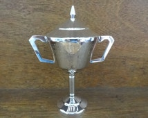 Vintage English Engraved Trophy Cup Supreme Beast Award Prize Beef Agricultural Livestock Farming circa 1980's early 1990's / English Shop