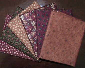 Sweet Pea Fat Quarter Bundle of 6 by Kansas Troubles for Moda