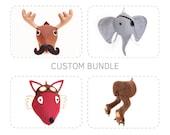 RESERVED - Custom Sewing Pattern Bundle, DIY PDF Plush Felt Animals