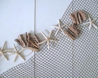 Nautical Driftwood Starfish Garland
