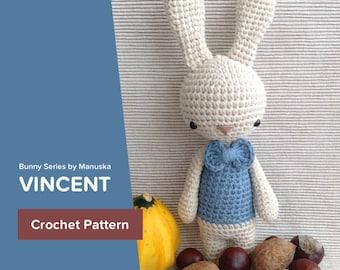 "Vincent | Crochet Pattern Bunny ""Vincent, the Bunny"" PDF Pattern"