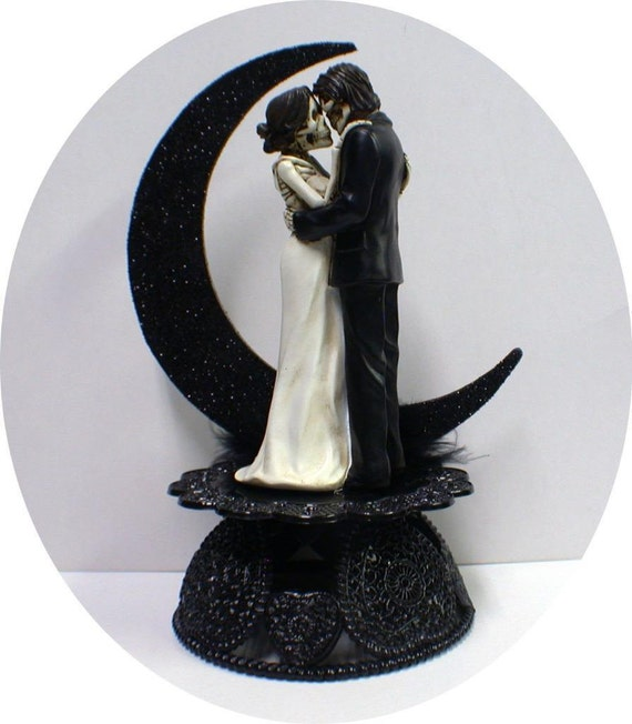 gothic wedding cake knife day of the dead wedding cake topper skeleton 14878