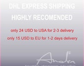 DHL EXPRESS SHIPPING highly recommended for fast delivery