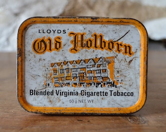 Tobacco tin Vintage Old Holborn made in United Kingdom LONDON
