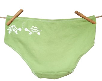 Love Turtles Women's Handmade Underwear - Size 10 - Ready-to-Ship
