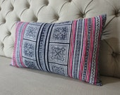 Vintage Hmong Hemp cushion cover, Handwoven Cotton Fabric,Scatter cushions