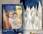 NEW - 2016 Christmas Card Templates vol.12 7x5 inch card template