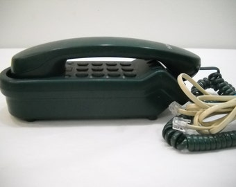 Vintage Green Phone Sony IT-B5 Green Pushbutton Table Wall Phone Speed Dial